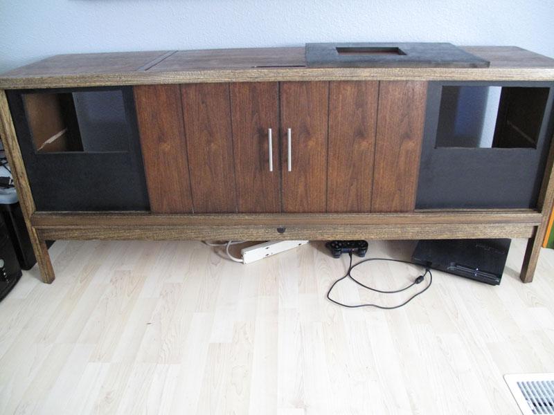 Homemade speaker grille -